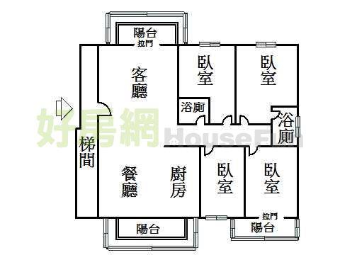 香格里拉电梯大户 中庭花园 边间浴室有窗 梯间大 (828140)图片
