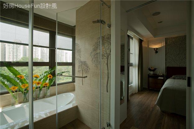 林公館 毛肧屋,主臥室及主臥浴室