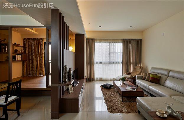 陽光與禪意的美妙交響,客廳