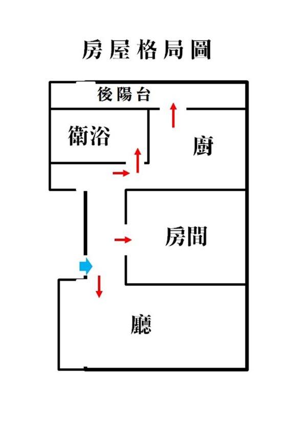 好房網租屋-源遠路公寓4樓一房一廳~家具家電~可以開伙照片9