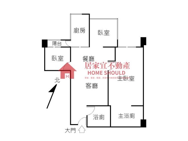 好房網租屋-台北灣江南綠意盎然景觀三房照片14